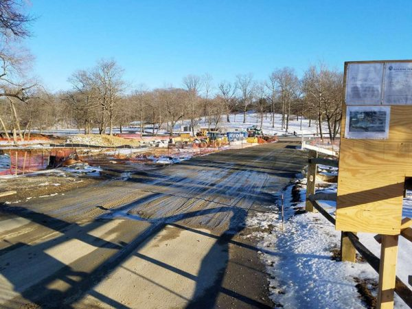 Lake Fairfax Park construction work
