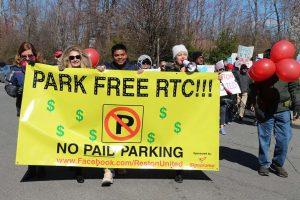 Park Free RTC protest