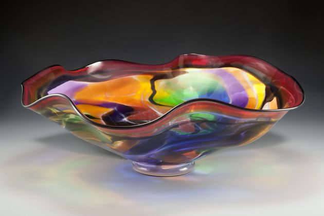 Lisa Aronzon – Stained glass ruffle bowl