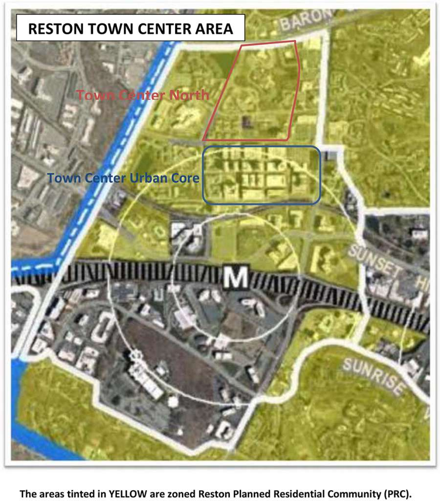 Reston Town Center Map: Op-Ed: When Is 'No Maximum' Development Either Planning Or