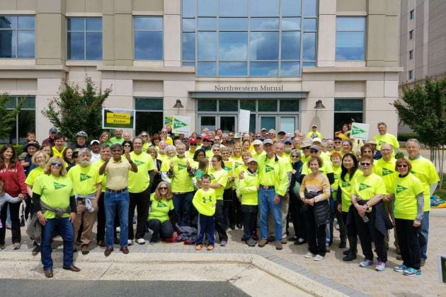 Rescue Reston rally at Northwestern Mutual offices May 7, 2017 (Credit: Paul Hartke)