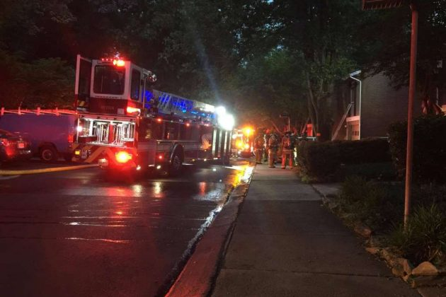 Firefighter falls through floor while responding to Reston townhouse fire