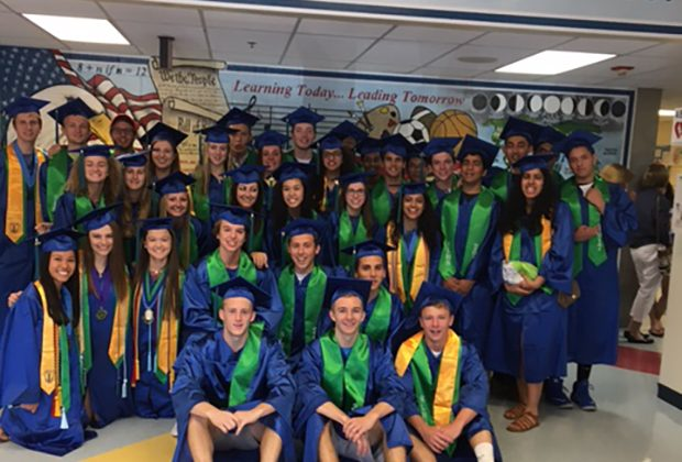 SLHS seniors at Floris Elementary School/Courtesy South Lakes High School