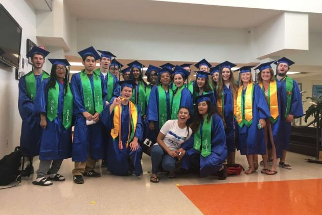 SLHS seniors at Terraset Elementary School/Courtesy South Lakes High School