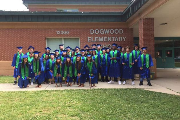 SLHS seniors at Dogwood Elementary School/Courtesy South Lakes High School