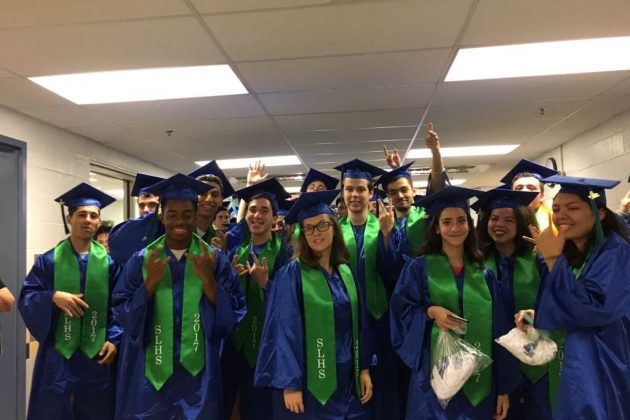 SLHS seniors at Forest Edge Elementary School/Courtesy South Lakes High School