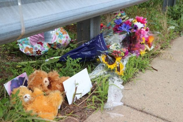A memorial for slain Reston teen Nabra Hassanen has formed on Dranesville Road.