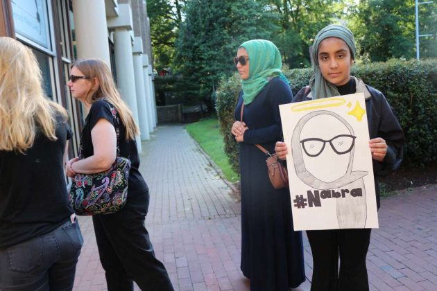Nabra Hassanen vigil at Lake Anne