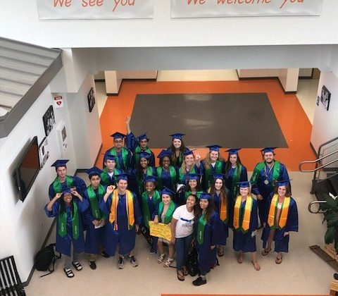 SLHS seniors at Terraset Elementary/Courtesy South Lakes High School