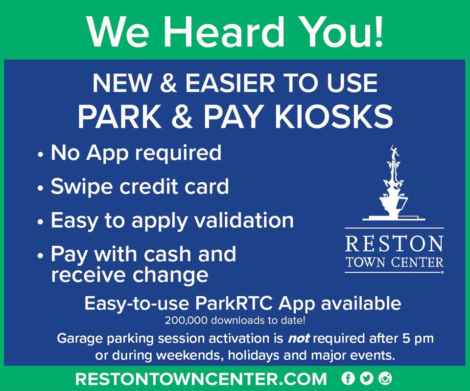 Reston Town Center Map: 'Easier-To-Use' Payment Kiosks Unveiled At Reston Town