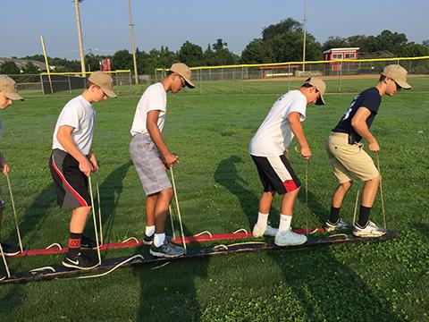 NJROTC cadets learn to work together during summer camp. (FCPS)
