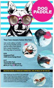La próxima Semana: Fiestas en la Piscina para los Cachorros Durante la Segunda edición Anual de 'Perro ... - Reston Ahora 1