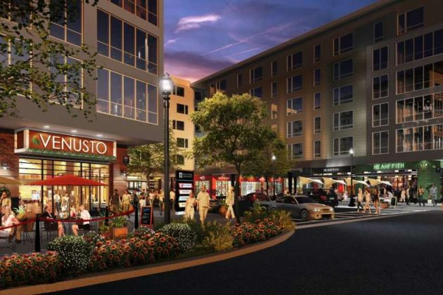 Rendering of streetscape view. (Credit: JBG Smith)