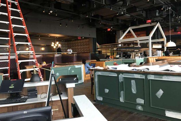 Renovations were underway last month.