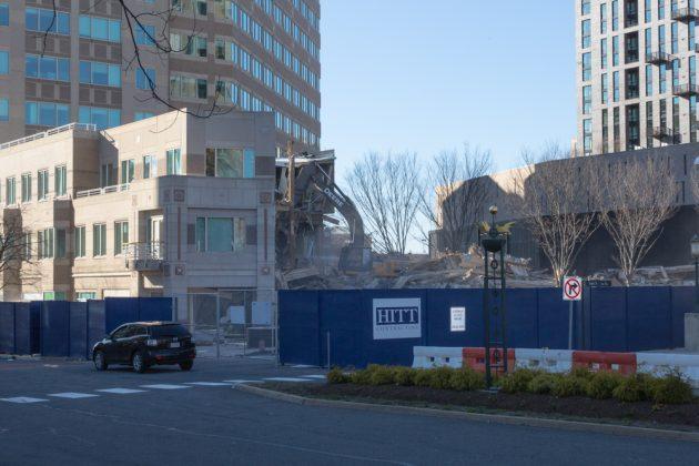 Demolition is underway in Block 5 of Reston Town Center.