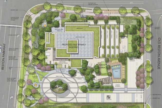 The site plan includes green space (Photo via handout).