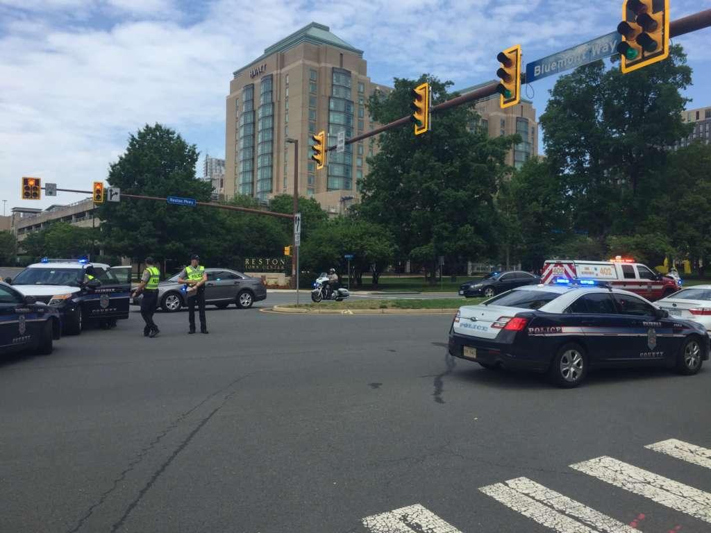 Fairfax County Police Car Crash