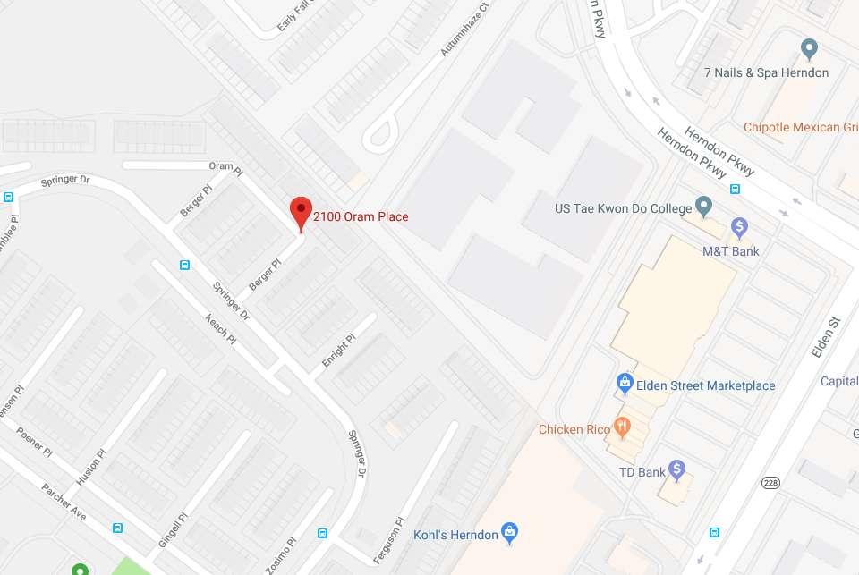 2100 block of Oram Place (Image via Google Maps)   Reston Now on