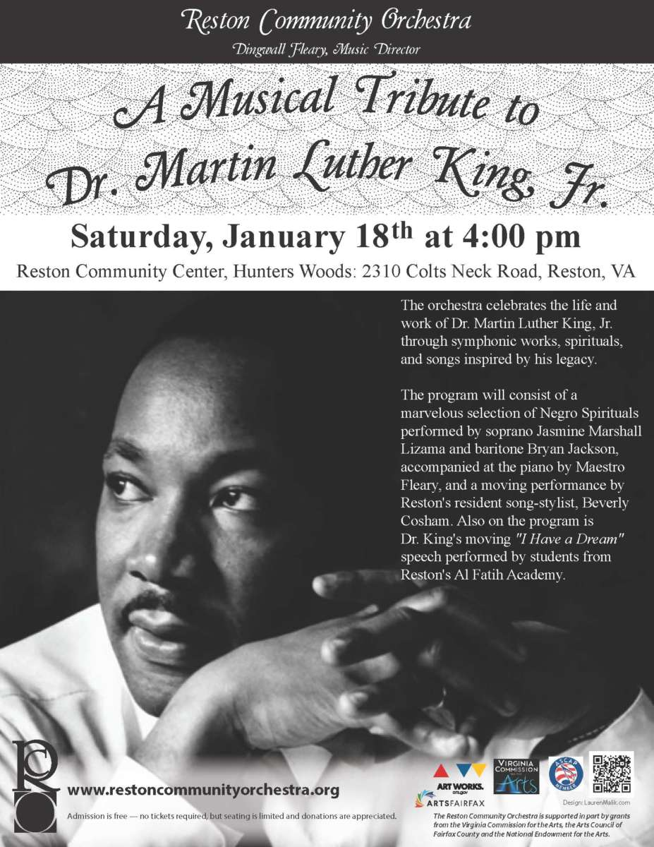 Virtual Choir Set For Martin Luther King Jr Birthday Celebration Reston Now
