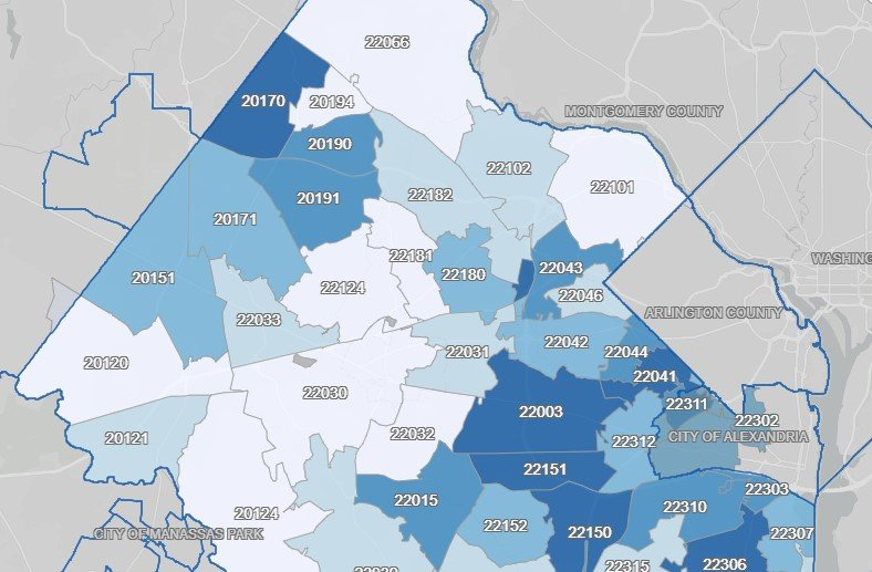 Fairfax County Releases More Zip Code Data On Covid 19 Cases Reston Now