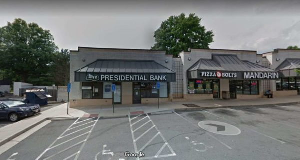 Presidential Bank at its old location, 1675-N Reston Parkway (Photo via Google Maps)